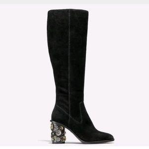 Coach Tea Rose Heel Boot